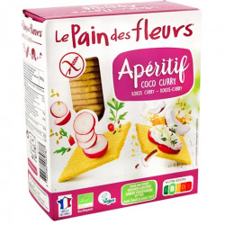 Tartines craquantes coco curry 150g